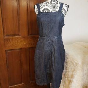 Universal thread denim apron dress